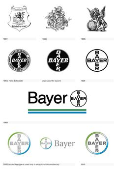 Bayer logo from Logo Life: The Visual Evolution of 100 Iconic Logos