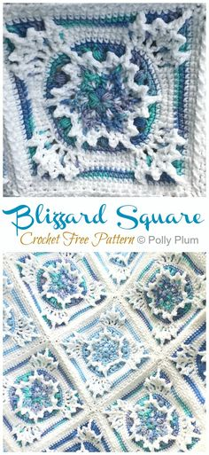 Blizzard Square Crochet Free Pattern – Crochet & Knitting Blizzard Square Crochet Free Pattern – Crochet & Knitting,DIY Crochet & Knitting Blizzard Square Crochet Free Pattern Related posts:The Humble Granny Square - Renate Kirkpatrick's. Crochet Motifs, Crochet Afghans, Granny Square Crochet Pattern, Crochet Blocks, Crochet Quilt, Afghan Crochet Patterns, Crochet Stitches, Knitting Patterns, Crochet Blankets