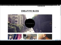 Creative Blog Responsive Theme