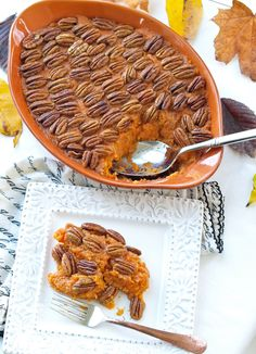 Sweet Potato Casserole Recipe. This is a low-sugar, gluten-free, and vegan recipe that is incredible! You won't miss all the sugar and butter in this flavorful casserole that is a perfect Thanksgiving dinner recipe.