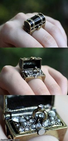 Treasure chest ring.