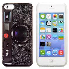 iPhone 5, 5s Camera TPU Cover, hoesje, case