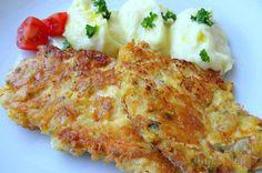 Bereitet euch schmackhafte Putenschnitzel im Käsemantel zu.
