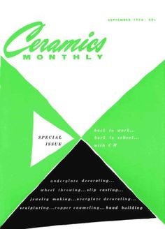 Ceramics Monthly September 1956 Issue Cover, On the Cover: Back to School, Back to Work with CM