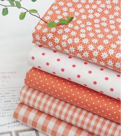 Details about Mix ORANGE Cotton Fabric / All sizes / Quilting fabric off… Tissu Style Shabby Chic, Shabby Chic Stoff, Shabby Chic Fabric, Fabric Photography, Quilt Material, Fabric Combinations, Fabulous Fabrics, Cool Fabric, Fabric Online