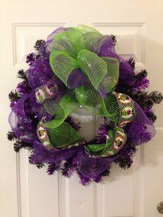 Halloween decor mesh wreath