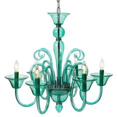"Calais Chandelier - Aquamarine from Z Gallerie    Height - 23.75""  Width - 27.5""  Net Weight - 12 lbs  Chain Length - 39""  Ceiling Plate - N/A  Bulb Socket Type - N/A  Max Wattage - 40 Watts    $399"