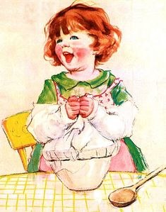 My Puzzles - Children - Vintage - Girl Baking 1920s