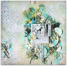 Scraps of Darkness scrapbook kits: Wilma Voermans created this gorgeous mixed media layout using May 2016 Scraps Of Darkness kit 'Soulshine'. Subscribe to our kits and have a new box of mixed media scrapbooking fun delivered to you each month! www.scrapsofdarkness.com