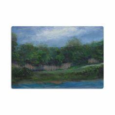 """Cyndi Steen """"A Cooler View"""" Blue Green Aluminum Artistic Magnet"""