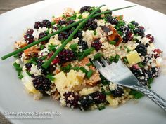Mulberry, Sausage, and Dubliner Cheese Couscous Salad Dubliner Cheese, Couscous Salad, Cheese Salad, Risotto, Salad Recipes, Main Dishes, Sausage, Salads, Berries