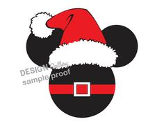 Mickey Minnie Mouse Santa Claus Christmas Holiday Disney DIY Printable Iron On t shirt Transfer Instant Download
