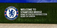 Chelsea FC Welcome To Stamford Bridge Wall Pride Of London made by me Unionjack Chelsea Football, Chelsea Fc, Stamford Bridge, Different Textures, Blues, Pride, Photoshop, App, London