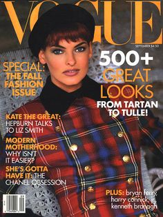 Vogue September 1991-w/Linda Evangelista