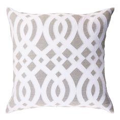 Diamond Scroll Linen Lounge Cushion