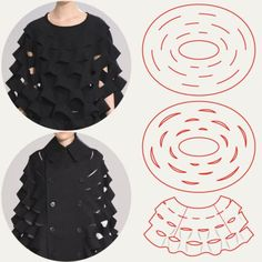 Honeycomb Pattern Structures at Junya Watanabe | The Cutting Class. Junya Watanabe, AW15, Paris, Image 12. Slits along concentric circles may be used to open up and create shaping.