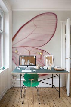 Office space. Inspiring wall. Wall&Deco http://decdesignecasa.blogspot.it