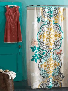 Shangri La Shower Curtain from Blue Sky Environments interior decor