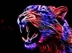 I love the fractal big cats so heres another.hope yall like Fractal Jaguar Fractal Images, Fractal Art, Big Cats Art, Cat Art, Tiger Pictures, Art Pictures, Lion Wallpaper, Animal Wallpaper, Computer Wallpaper