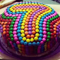 M&M cake! #chocolate #lovechocolate #m&m #birthday #bday #diy #colorfull #multicolor #rocklets