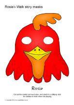 Rosie's Walk role-play masks (SB8850) - SparkleBox