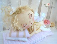 Art doll fabric doll Soft doll rag doll textile от PrincessDollArt