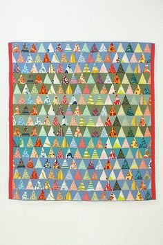 pyramid quilt, anthropologie
