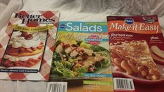 Pillsbury Cookbooks  Lot of 3 Potluck Dinner, Cookie Dough and Hamburger Meals