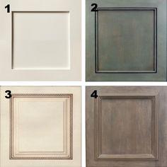 Plain white melamine kitchen goes coastal door trim moulding options