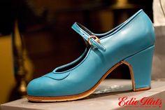 Turquoise Flamenco Shoes