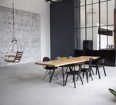 Massivholztisch Esstisch Tisch Holztisch Table Dinningtable Loft Interior Design www.holzwerk-hamburg.de