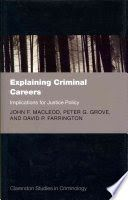 Explaining Criminal Careers Implications for Justice Policy Criminology, New Books, Cards Against Humanity