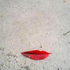 """Leaf Lips"", art by the mother Nature."