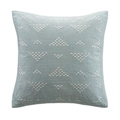 Cario Embroidered Square Accent Pillow - Blue