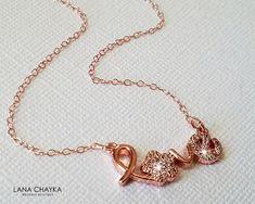 Rose Gold Wedding Jewelry, Wedding Jewellery Gifts, Rose Gold Jewelry, Wedding Gold, Jewelry Gifts, Wedding Necklaces, Love Necklace, Pendant Necklace, Bridesmaid Bracelet