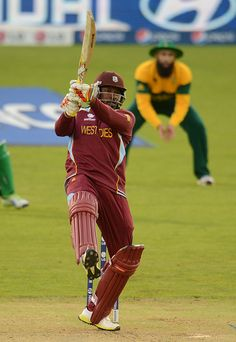 CT13 Match 2 Group Stage - India v West Indies: Against some good South African bowling, Chris Gayle got the West Indies chase off to a good start scoring 36 runs from 49 balls.