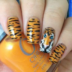 Tiger Nails- For all those MIZZOU lovers!