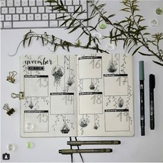 25 Houseplant Inspired Bullet Journal Layouts