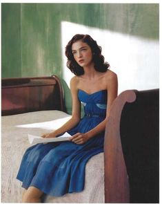 """Mariacarla Boscono reads in """"Ritratti di Nuovo Stile"""" by Spanish photographer Javier Vallhonrat for Flair Italy, March In a tacit tribute to Edward Hopper and inspired by his works like 'Morning. David Hockney, Edouard Hopper, Edward Hopper Paintings, Art Photography, Fashion Photography, Robert Rauschenberg, Paris Mode, Morning Sun, Portraits"""