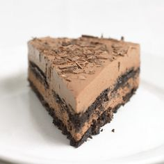 Chocolate Ricotta Ice Box Cake. Easy to make and really delicious.