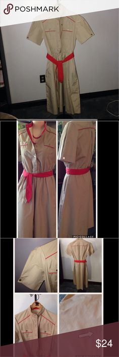 Beautiful Vintage Linen Dress This beautiful vintage linen dress is in very good used condition. There are no tags, a tiny spot on front, but not noticeable! Light and airy, casual yet classy, paired with red heels definitely would get you noticed! Shoulder width is 141/2 in., armpit to armpit is 181/2in. ( giant pleat in back allows for flexibility in the bust area!), across waist measures 141/2in., but the elastic waist stretches to about18 in., and the waistline to hem is 251/2 in…