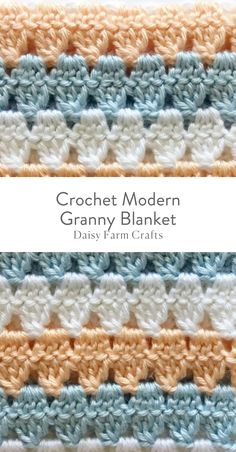 """This is the """"modified"""" granny blanket I tried, except I didn't dc3tg the same way she does in the video. Makes for an interesting look."""
