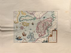 Ancient Maps  North Europe  Cm. 80 x 60 Inches di OldDecorPrints