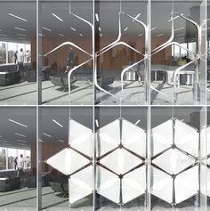 Snapping Facade - Dioinno Architecture PLLC Kinetic Architecture, Dynamic Architecture, Origami Architecture, Facade Architecture, Architecture Diagrams, Architecture Portfolio, Concept Architecture, Building Skin, Building Facade