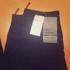 Prada pants. Prada blue pants/jeans with button fly. Prada Pants Boot Cut & Flare