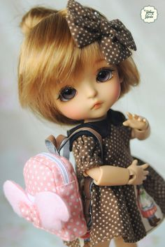 Lati Yellow/ Puki Fee Mini Fairy Fabric Backpack by YlangGarden