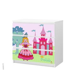 """Stickers for Malm chest of drawers Ikea   """"Princess"""" $46"""