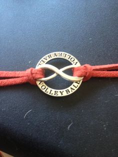 Volleyball Forever Bracelet....custom colored strap