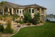 native hillside landscaping idea for Minnesota Hillside Garden, Hillside Landscaping, Front Yard Landscaping, Backyard Patio, Landscaping Ideas, Patio Ideas, Minnesota Landscaping, Yard Design, Design Design
