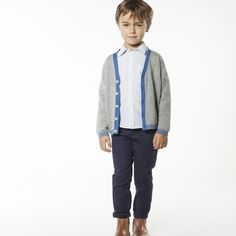 CARREMENT BEAU Cardigan en tricot garcon gris - Kids around